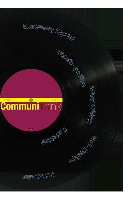 Vinile CommuniThink. I nostri testi nascono sempre ascoltando musica. La musica è indispensabile per la nostra concentrazione.