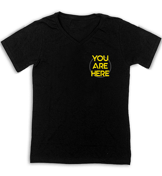 You are here. La T-Shirt di CommuniThink.